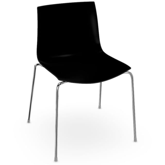 catifa 46 stuhl mit 4 fu gestell von arper. Black Bedroom Furniture Sets. Home Design Ideas