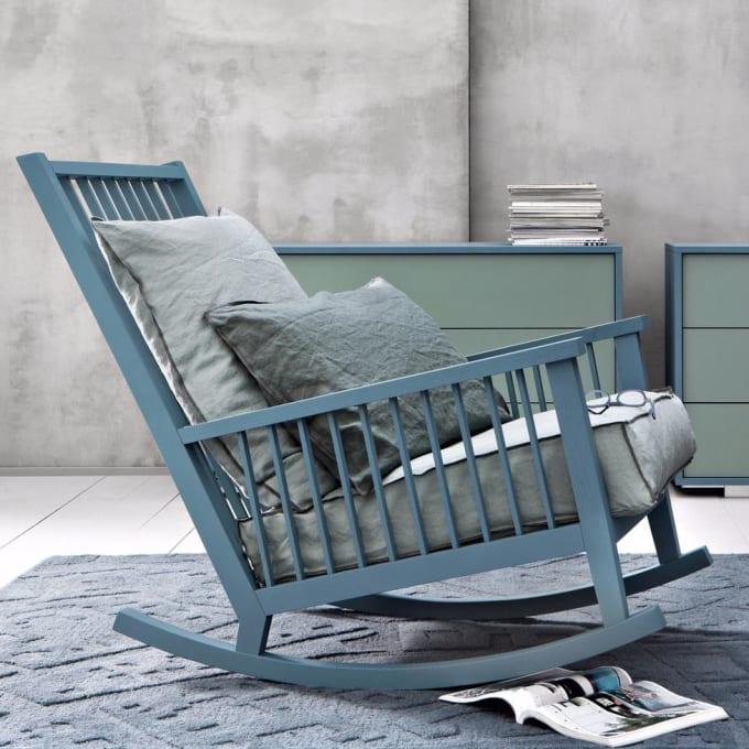 Rocking chair gray 09 by gervasoni - Gervasoni schaukelstuhl ...