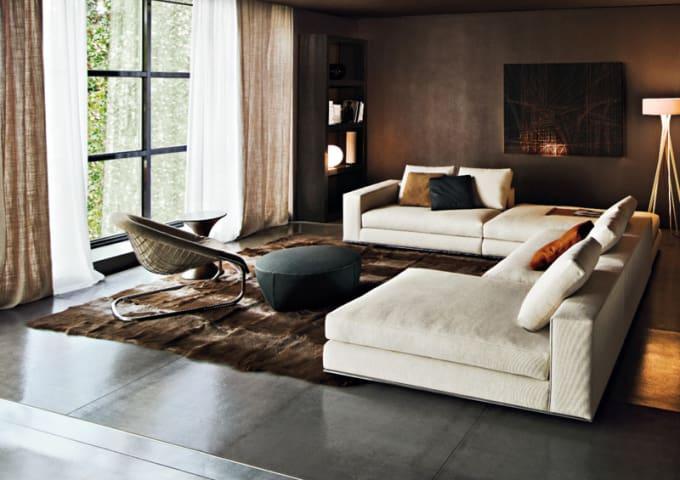 Sofa series hamilton by minotti