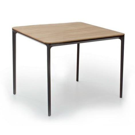 Esstisch glas modern  Slim Wood square dining table by Sovet Italia