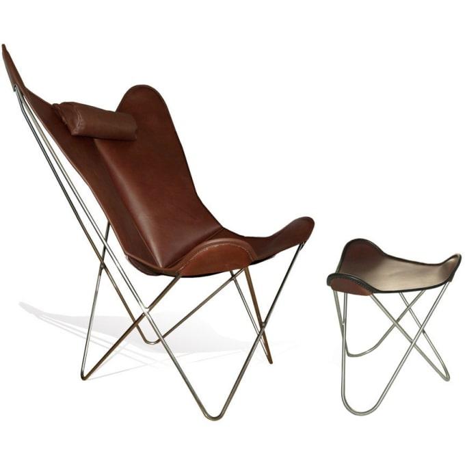 Hardoy Butterfly Chair Grand Comfort mit Ottoman von Weinbaum