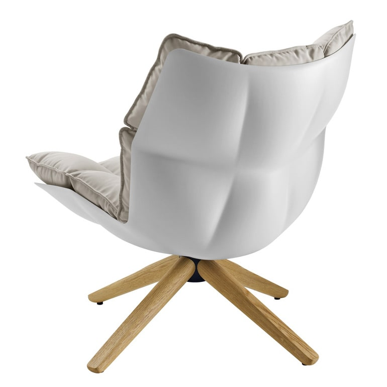 Swivel armchair Husk by B&B Italia