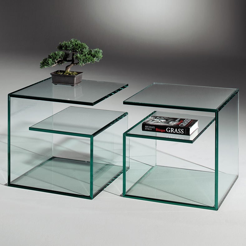 Janus 5 petite table en verre de dreieck design for Designermobel buro