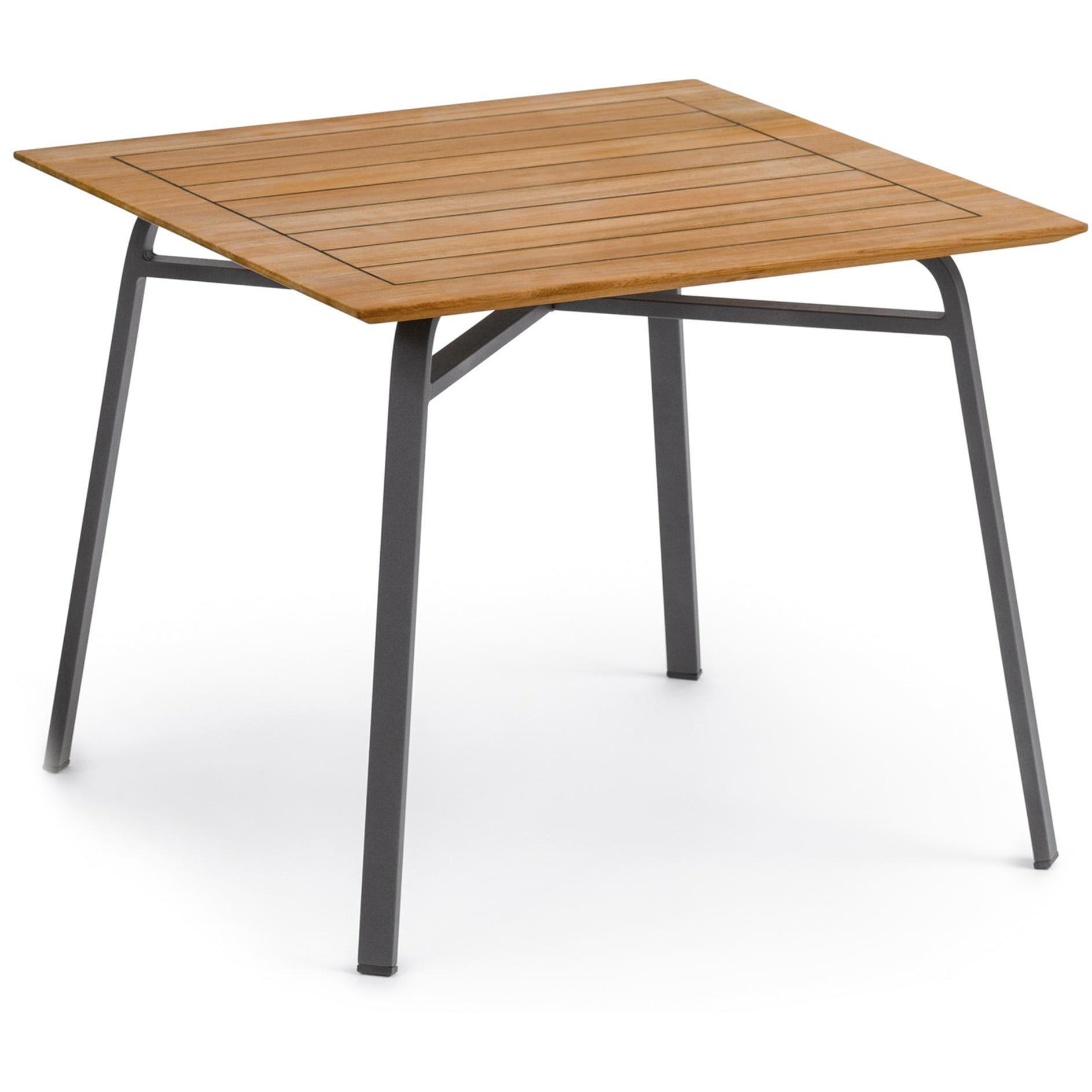 Ahoi Tisch 90x90cm mit Teak-Platte von Weishäupl