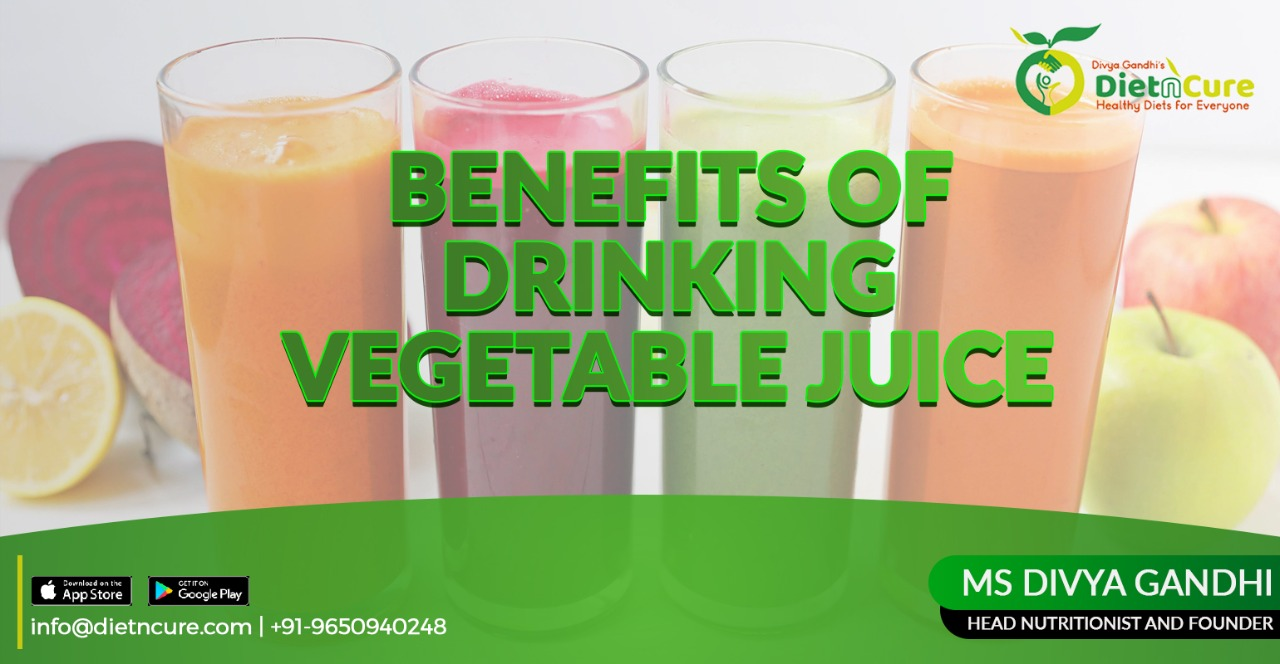 Benefits of drinking vegetable juice