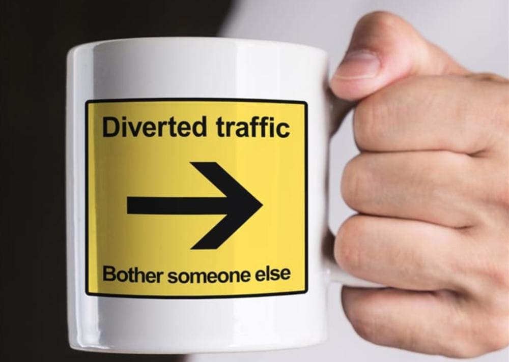 Diverted Traffic Mug