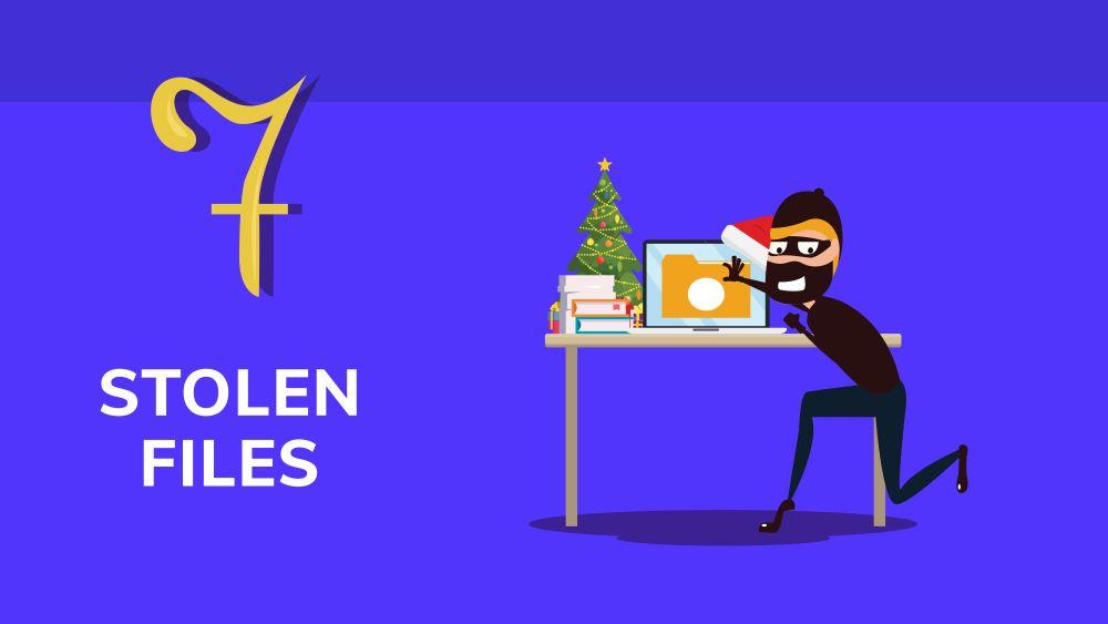 Business risk: stolen files