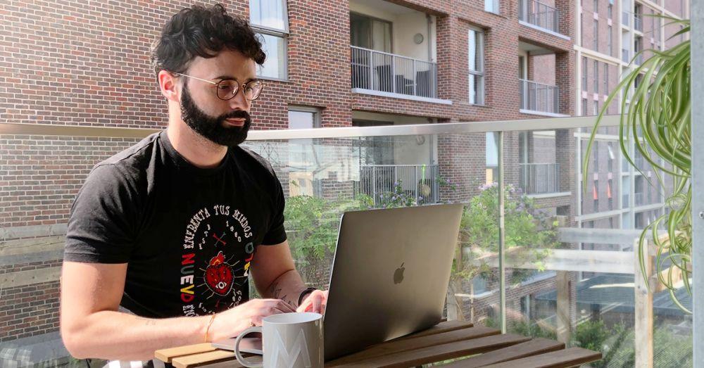 Matt working remotely