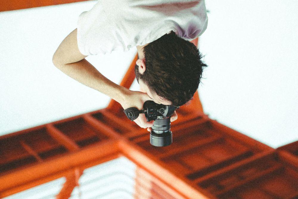 photographer taking image of scenery