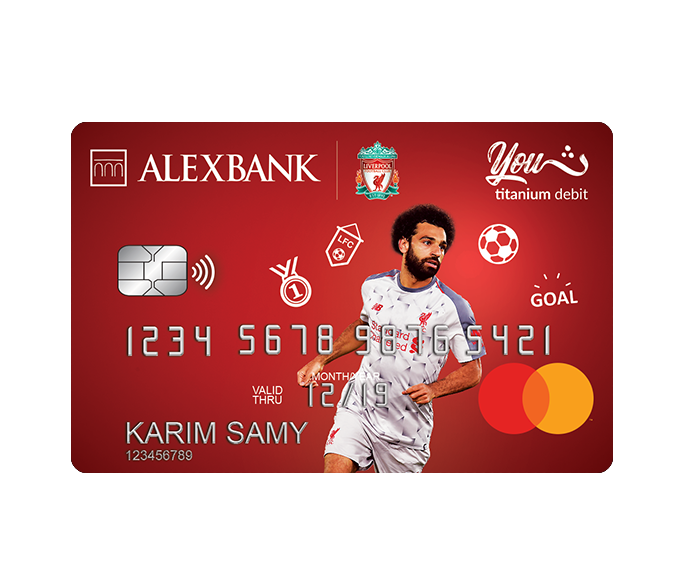 YOUTH Liverpool FC Titanium Debit Card