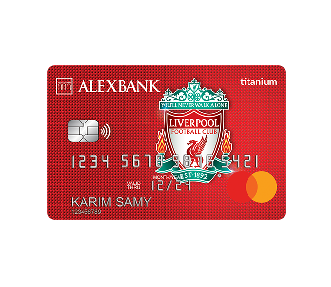 Liverpool FC Titanium Credit Card