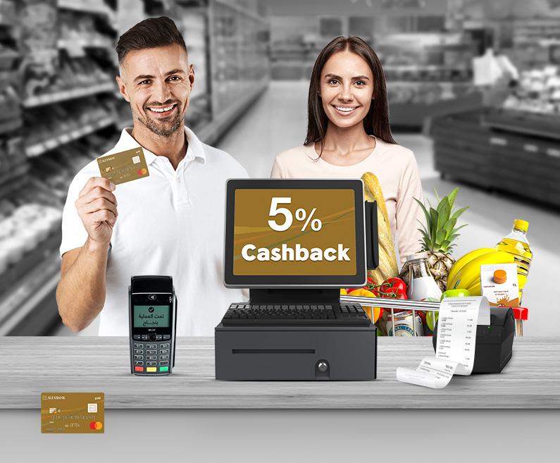 5% cashback on Groceries