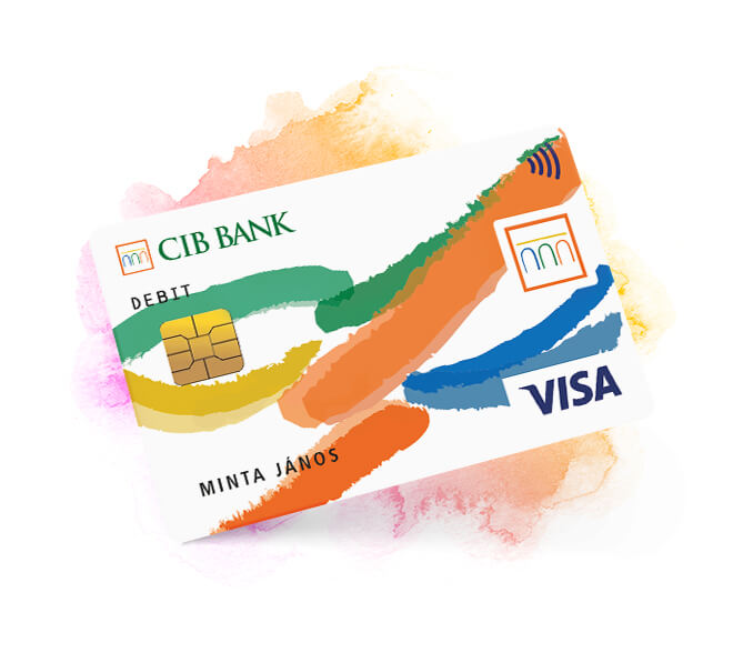 Visa Embossed Bank Card