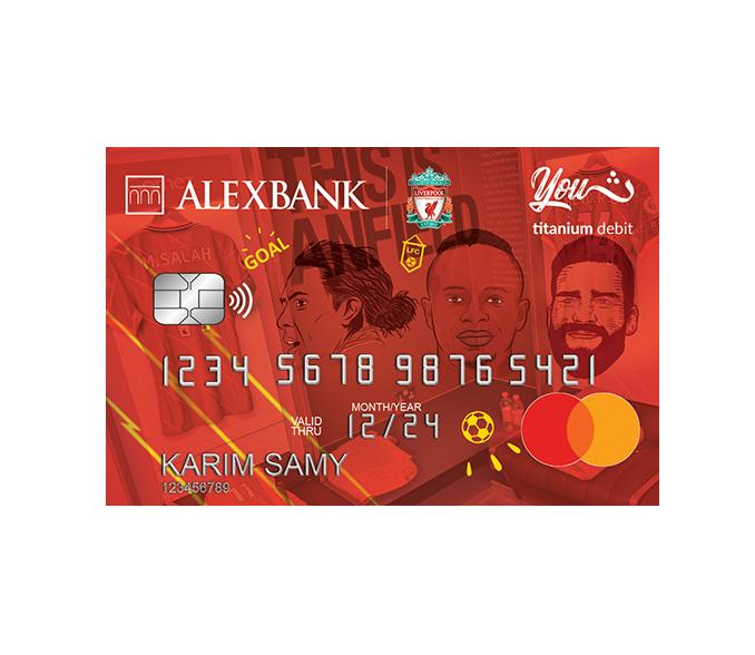 YOUTH Liverpool FC Titanium Debit Card