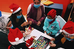 Annual Christmas Visit to 57357 Children's Cancer Hospital.