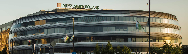 New business center of Intesa Sanpaolo Bank in Rotonda in Ljubljana