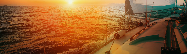 A sail on the sea