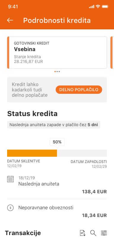 Ekran mobilne banke