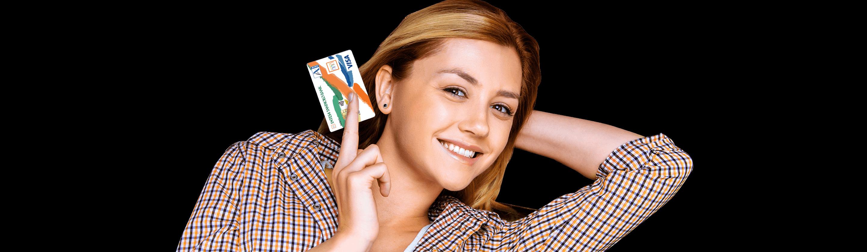 debit card Activa Visa Inspire on the beach