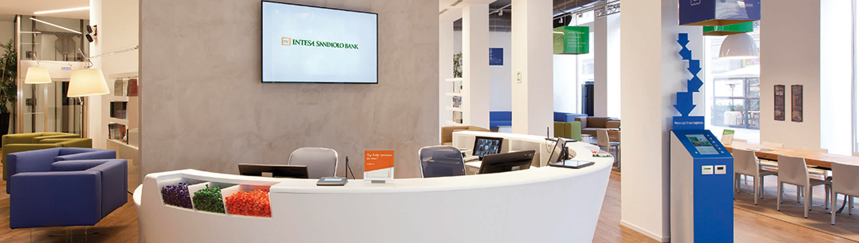 branch office with the reception counter