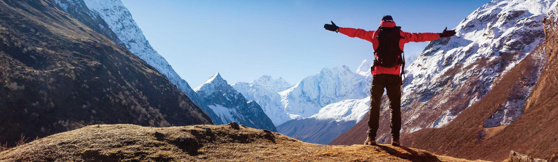Alpinist v gorah