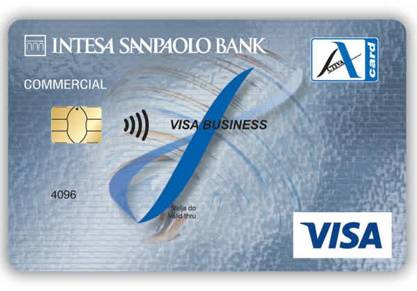 poslovna debetna kartica Activa Visa
