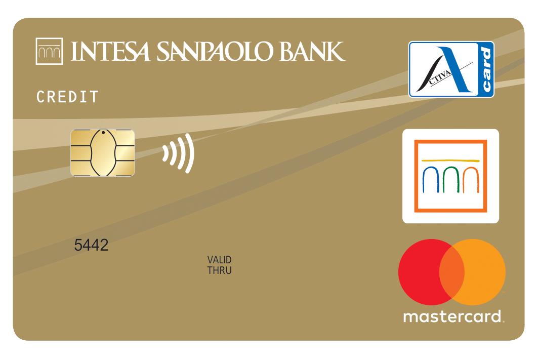 Zlata kartica Activa Mastercard