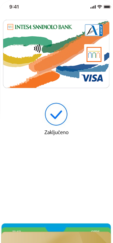 a mobile phone with an Apple Pay app
