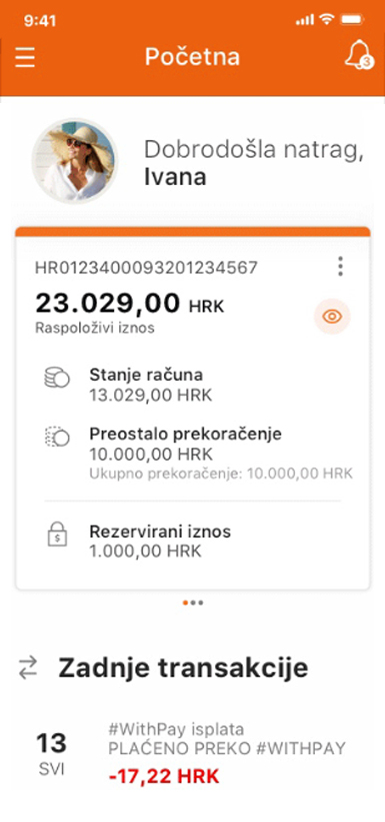 mobile phone with mobile wallet Wave2Pay