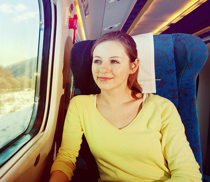 Ženska na vlaku