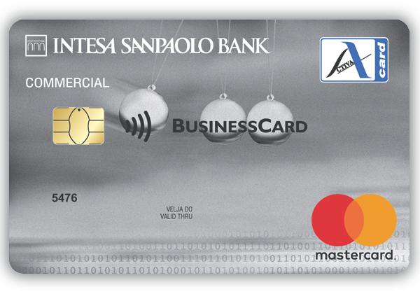 poslovna kartica z odlozenim placilom oz. kreditna kartica Visa ali Mastercard