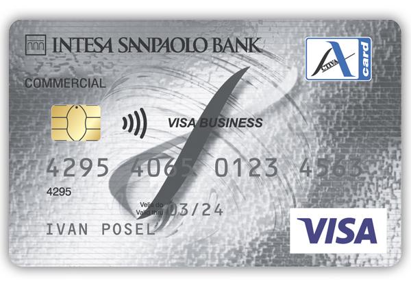 poslovna kartica z odlozenim placilom oz. kreditna kartica Activa Visa