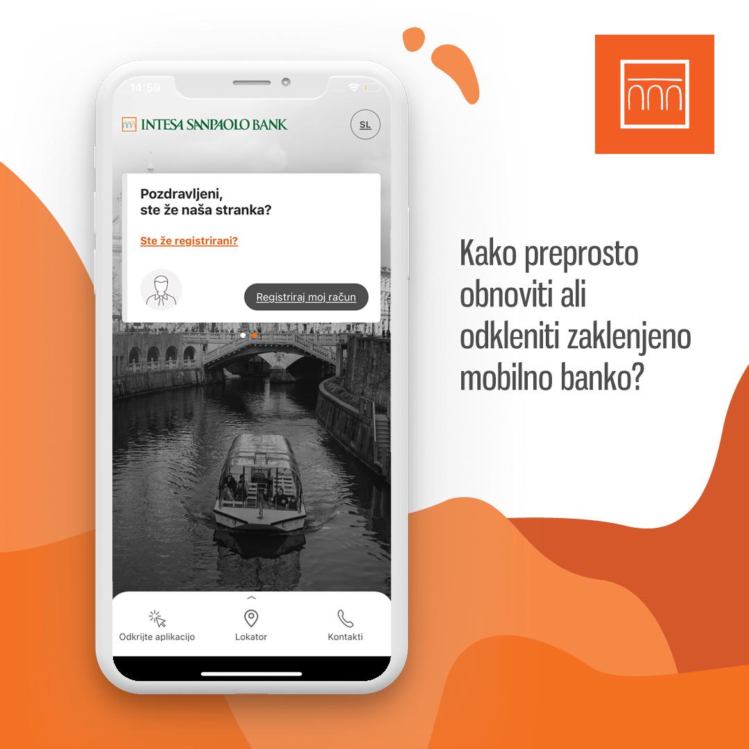 Obnova ali odklepanje mobilne banke
