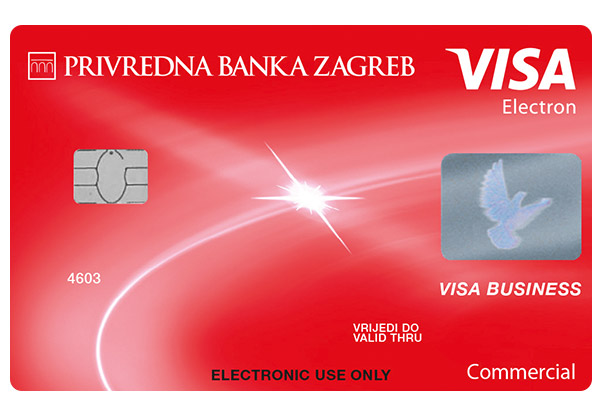 Visa Business Electron debit card for business entities