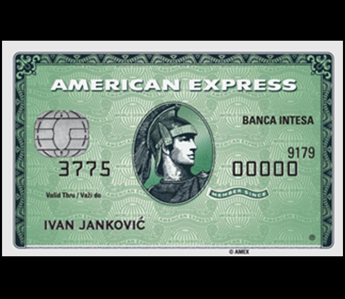 amex green american express green intesa hit banca intesa
