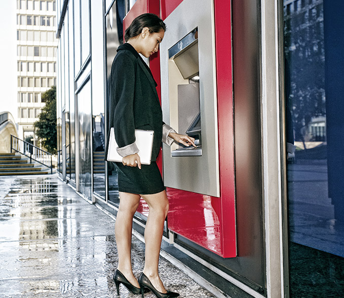 Deposit your money on ATMs