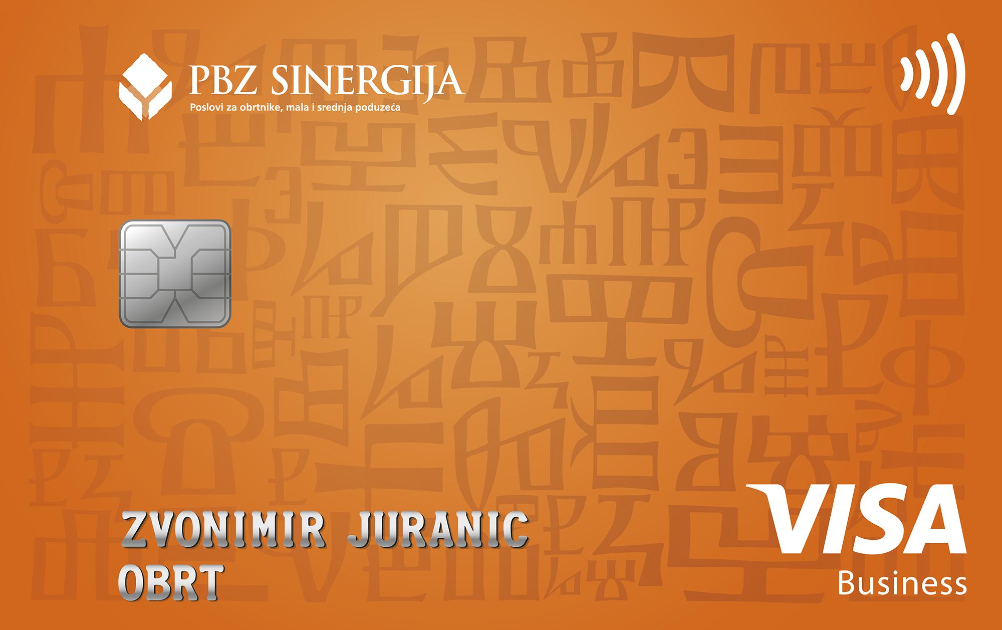 Visa card for craftsmen