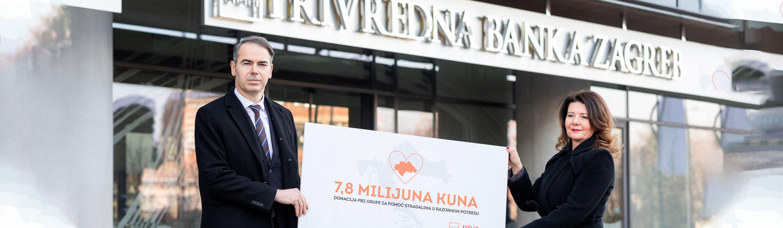 PBZ grupa donira 7,8 milijuna kuna za pomoć stradalima u razornom potresu