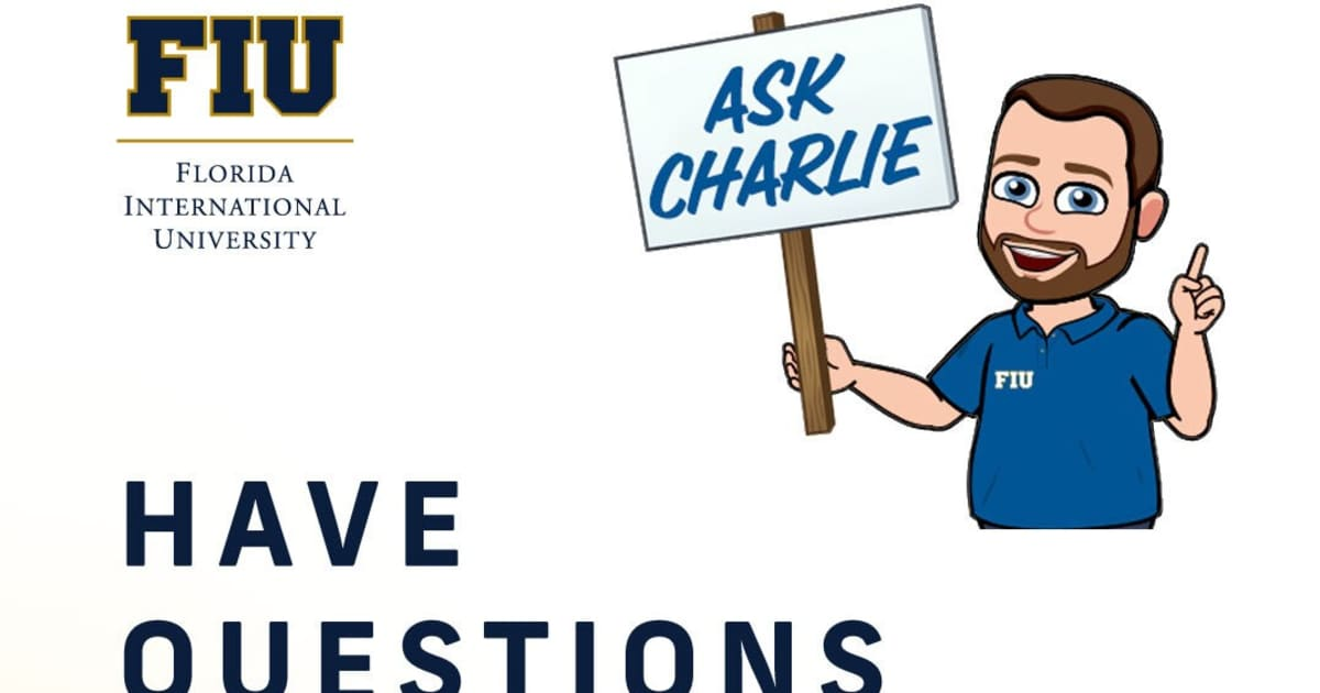 Questions about this fall? Ask Charlie.
