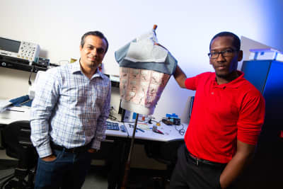 Ph.D. student designs wearable antennas for medically underserved communities