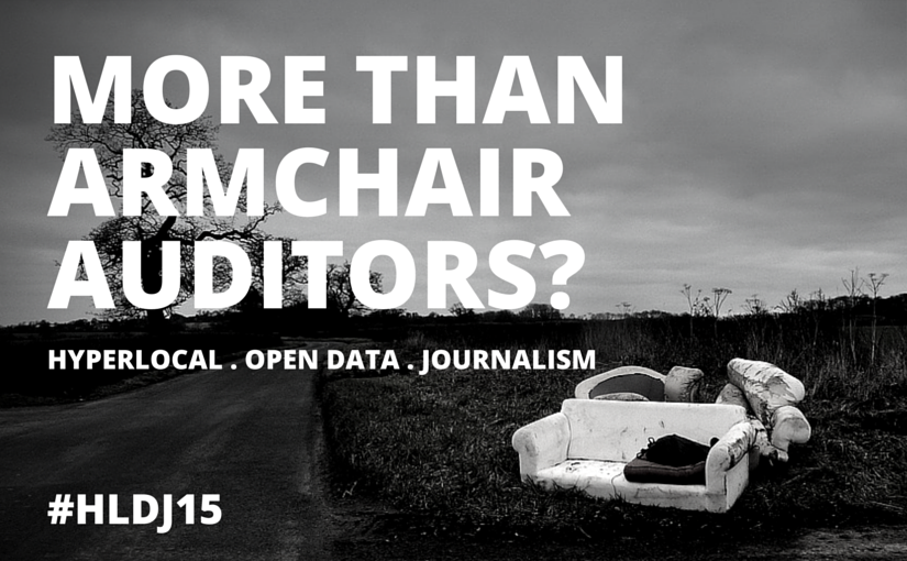 Hyperlocal. open data. journalism conference: If you'll come, I'll build it.