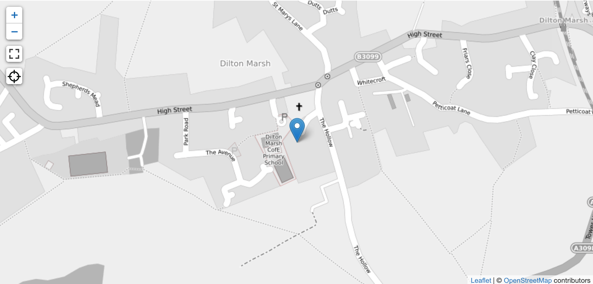 An example of point data shown on a map - in this case it is the location of a listed building