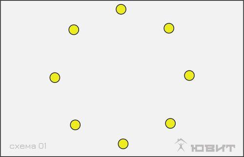 1 схема расположения светильников