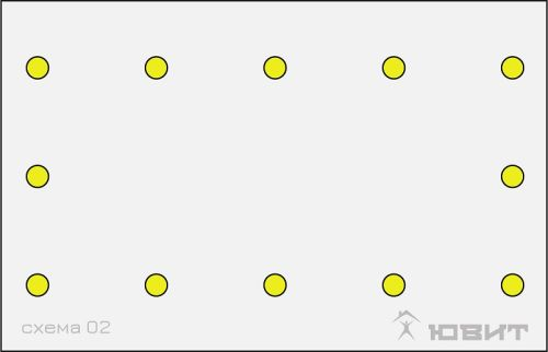 2 схема расположения светильников