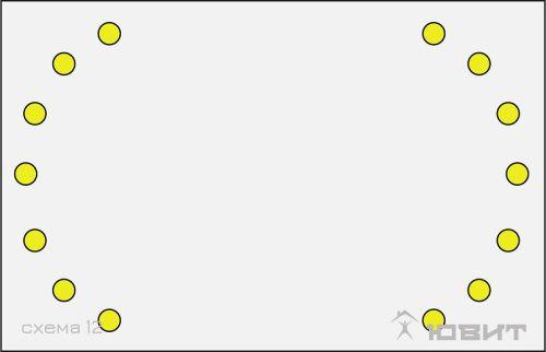 12 схема расположения светильников