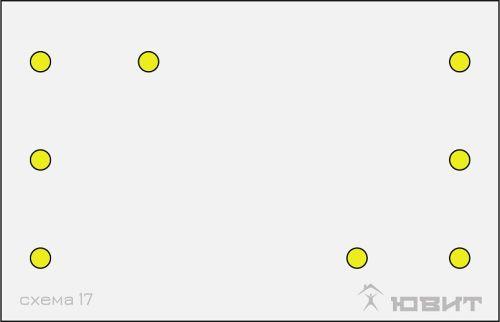 17 схема расположения светильников