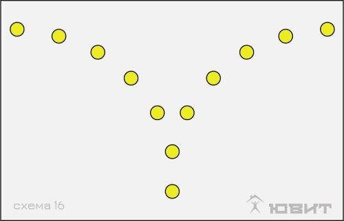 16 схема расположения светильников
