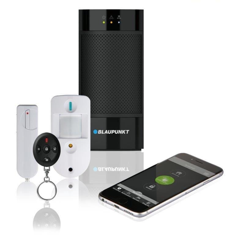 Blaupunkt Smart Home Alarmanlage Q3200, Bewegungsmelder mit Fotofunktion, Tür/Fenstersensor, Fernbedienung