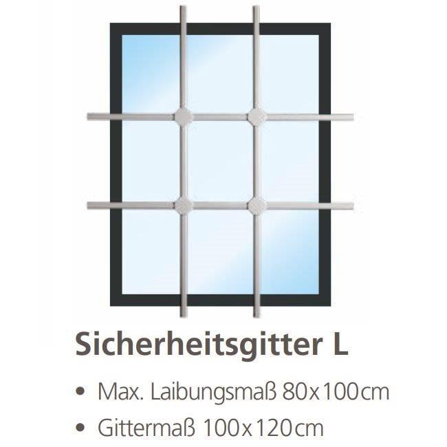 Burg Wächter Fenster-Sicherheitsgitter WinProtec L