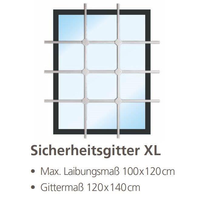 Burg Wächter Fenster-Sicherheitsgitter WinProtec XL